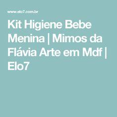 Kit Higiene Bebe Menina   Mimos da Flávia Arte em Mdf   Elo7