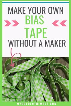 Learn how to make bias tape in an easy way without a bias binding maker. I will teach you how to cut a continuous bias tape from any fabric you like! Sewing Lessons, Sewing Class, Sewing Tools, Sewing Hacks, Sewing Tutorials, Sewing Patterns, Craft Tutorials, Skirt Patterns, Dress Tutorials