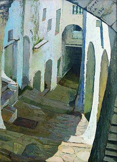 Alley of Itri 1970 Antonio Sicureza. What luminous painting!