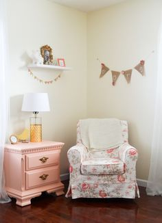 Cora's Coral and Gold Nursery - Project Nursery