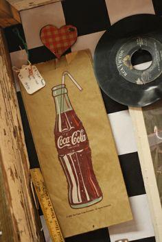 Vintage Coca-Cola Brown Paper Bag - Grandma's Attic Antiques & Flea Market Anderson, MO