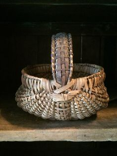 forceful & lusty Antique Buttocks Basket: American, Late 19th Century abigailscountrycabinantiques..