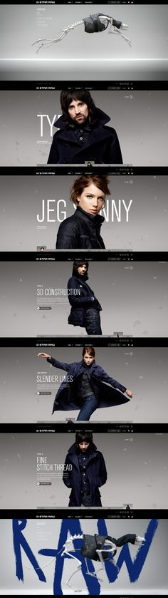 G-Star RAW, 17 September 2013. http://www.awwwards.com/web-design-awards/g-star-raw  #Fashion #Minimal #Flexible #CSS3 #HTML5 #Photography #FlatDesign