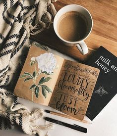 Super book and coffee photography writing life 28 ideas Bujo Inspiration, Art Journal Inspiration, Flat Lay Photography, Coffee Photography, Photo Letters, Photos Originales, Coffee And Books, Coffee Milk, Honey Coffee