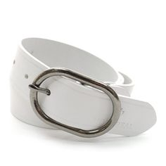 (JPB018-WHITE) Casual Leather Belt from W28 to W39