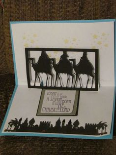 Pop up Nativity cards made for shut ins 2011