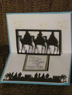Pop up Nativity cards made for shut ins 2011