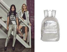 pat-pats-cea-prateado calça prata, mochila prata, jaqueta prata silver moda look