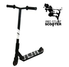 Black Pro Aluminum Stunt Kick Scooter High End Tricks Skatepark BMX Handlebars