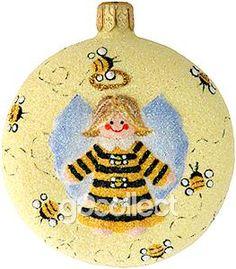 Littlest Angel Medallion (Bees) Patricia Breen Designs (Yellow, Black, Angel, Bees)