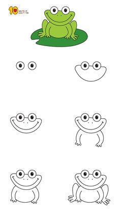 How To Draw A Frog In 4 Steps Class Management Frog Drawing