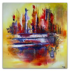 Miami abstrakt gemälde unikat handgemalt malerei acrylbilder kaufen