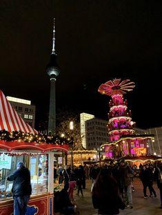 The Christmas market at Alexanderplatz in Berlin, Germany. Berlin Christmas Market, Christmas Markets Germany, Berlin City, Future Goals, Berlin Germany, Night Life, Travel, Germany, Viajes