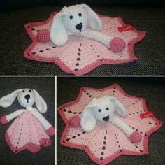 Crochet bunny lovey, babyshower gift