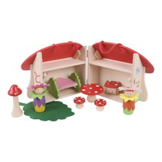 This gorgeous little Mushroom House Playset is perfect for youngsters who enjoy roleplay. This wooden set comes complete with leaf bed, toad stall cabinet, toad stall table and chairs plus figurines and garden accessories! All of the play pieces fit within the Mushroom house. Suitable for children aged 3 years+. Available MAY: http://shop.bigjigstoys.co.uk/products/productdetail/Mini+Mushroom+House+Playset/part_number=BJ681/12465.0.4.3.1079580.0.0.0.0?pp=20&
