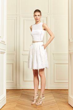 White short cut-out dress #trend I Zuhair Murad Resort 2014 #fashion #resort2014