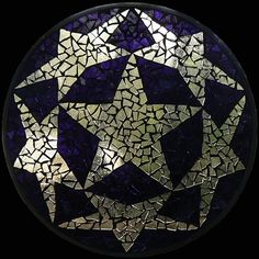 Stained Glass Mosaic Mandala Star Circle by David Chidgey