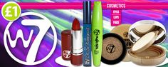 80% off W7 cosmetics!...but you had better be quick because its going fast! www.poundshop.com/health-beauty/cosmetics