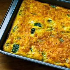 Recipe for Zucchini and Green Chile Breakfast Casserole - Kalyns Kitchen