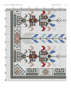 Cross Stitch Rose, Cross Stitch Charts, Bargello, Baby Knitting Patterns, Hand Embroidery, Towels, Punto De Cruz, Dots, Needlepoint