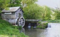 Hyde's Mill is surrounded by lush woodlands in Iowa County, Wisconsin.