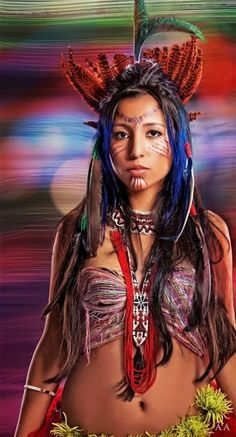 Beautiful and colorful. Native American Models, Native American Pictures, Native American Quotes, Native American Beauty, Native American History, American Symbols, American Indian Girl, American Indians, Native Girls