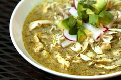 Green Pazole with Chicken. This was so good topped with avocado. Yum!