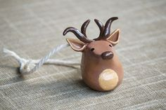 Handmade polymer clay reindeer ornament for 2015 Christmas decoration - christmas: Reindeer crafts for 2015 Christmas home decor !