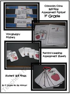 Common Core Skill Ring/Assessment ...1st Grade from First Grade Hip Hip Hooray on TeachersNotebook.com (10 pages)