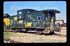 D Original Slide - Atlanta & St. Andrews Bay ASAB 10 Caboose Panama City FL 1991 | eBay