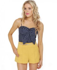 Seafaring Well Navy Blue Bustier Top ~  $35.00