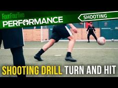 Soccer shooting drill: Turn and hit - YouTube