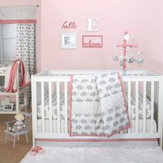 Crib bedding sets make the nursery perfect. Welcome the new arrival with crib bedding sets for girls and crib bedding sets for boys from buybuyBABY. Get sweet baby crib bedding sets - buy now Pink Bedding Set, Girl Crib Bedding Sets, Girl Cribs, Baby Nursery Bedding, Baby Nursery Furniture, Nursery Room Decor, Baby Cribs, Nursery Ideas, Room Ideas