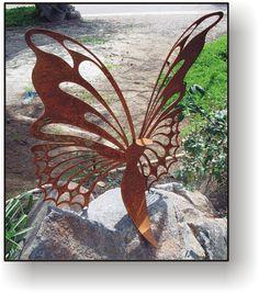 Butterfly 24 metal art sculpture  garden art by GreenTreeJewelry, $48.95