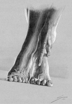 Cuadros Modernos Pinturas : Fabulosos dibujos de pies y manos, imágenes a lápiz