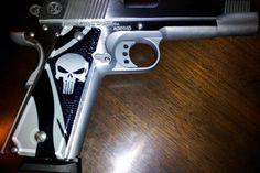 1911 Pistol Punisher Gray