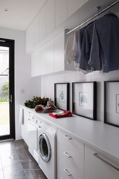 """Outstanding """"laundry room storage diy shelves"""" info is available on our internet site. Read more and you wont be sorry you did. Small Laundry, Laundry In Bathroom, Laundry Decor, Laundry Rooms, Laundry Room Inspiration, Laundry Room Organization, Laundry Room Design, House Ideas, House Design"""