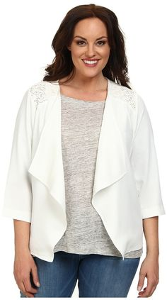 Plus Size White Jacket Blazer