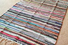 Perfect Rag Rug / Bright Large Scrap Multi by YourGreatestStory