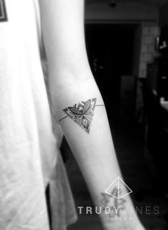 TATTOOS.ORG - lil dotwork triangle tattoo by Trudy Lines Submit...