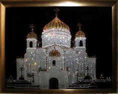 Картина из кристаллов (страз) Сваровски ХРАМ ХРИСТА СПАСИТЕЛЯ