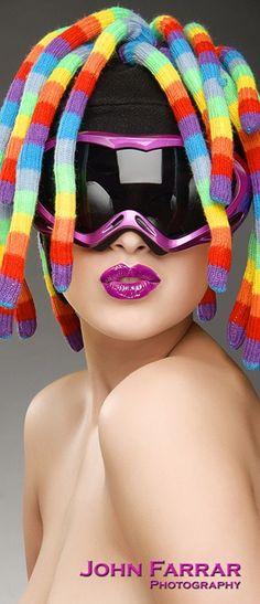 Rainbow Hair! Taste The Rainbow, Over The Rainbow, Use E Abuse, Fuchsia, World Of Color, Model Mayhem, Model Photographers, Soul Art, Beauty Photography
