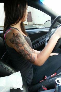 Roses - half sleeve tattoo