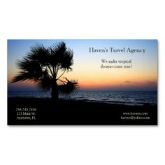 Tropical Business Card. This is a fully customizable business card and available on several paper types for your needs. You can upload your own image or use the image as is. Just click this template to get started!