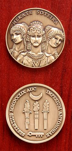 a beautiful coin featuring my Goddess Hecate