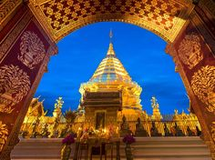 Wat Phra That Doi Suthep Temple and Bell Temple, North Thailand