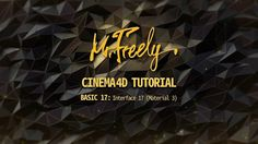 Cinema 4D tutorial_Basic17_Interface 17 (Material 3) (시네마4D 기초강좌_17강_인터페이스17 (Material 3)) - YouTube