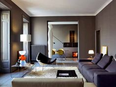 i know we said grays but this taupe is modern but calming!
