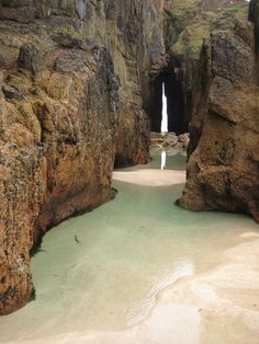 Nanjizal Beach and Song of the Sea Cave in Cornwall