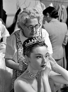 Audrey Hepburn on the set of Roman Holiday, 1953. holiday 1953, roman holiday
